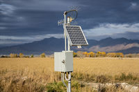 Selective focus of a solar panel mount for electric utility in a farm
