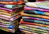 pile coloured scarf tissue