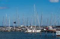 The marina in Hohe Duene, Mecklenburg-Western Pomerania, Germany