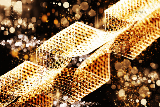 metal ribbon background or texture with abstract l