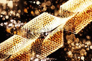 metallenes band mit abstraktem licht