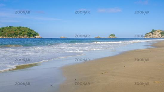 beautiful beach at Hahei New Zealand