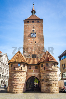 clock tower Nuremberg Bavaria Germany