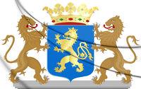 3D Hattem coat of arms (Gelderland), Netherlands. 3D Illustration.