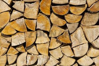 Gestapeltes Feuerholz