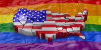 USA on the flag LGBT