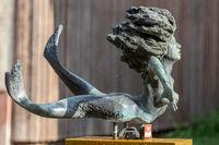 Fountain with mermaid Werranixe in the city Wasungen