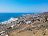 View of Popotla and Mexican Highway 1, Baja California