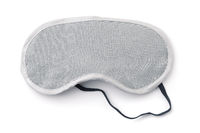 Front view of blank gray sleeping eye mask