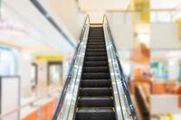 Escalator in business center