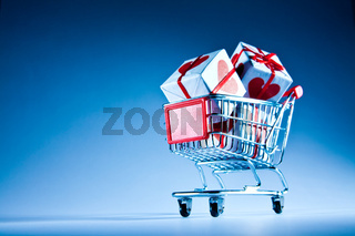 shopping cart ahd gift