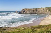 beach near of Odeceixe, Algarve, Portugal