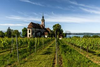 Wallfahrtskirche Birnau am Bodensee, Uhldingen-Mühlhofen, Baden-Württemberg, Deutschland