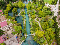 Pond in the park of New Athos, Abkhazia
