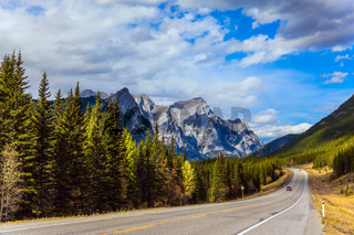 Mountain asphalt highway
