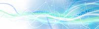 netzwerk linien punkte wellen verlauf banner