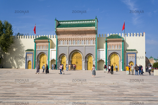 Facade of the royal palace in Fes