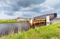 Wooden Bicyle bridge in Groningen The Netherlands