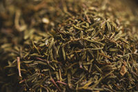 Dried thyme in macro close up