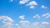 Panoramic view of the blue sky with clouds