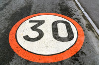 traffic sign speed limit of 30 km/h