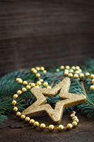christmas card with star shape