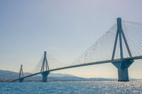 Big Cable Bridge on a Sunny Day