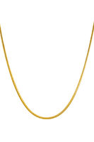 Elegant gold snake chain necklace on white background-  womens jewelry