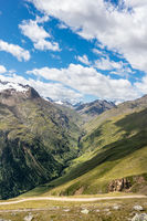 View into a rugged valley near Vent in the Ötztal, Austria