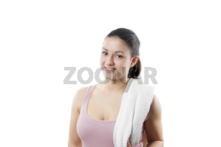 sportliche junge Frau