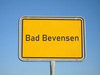 place name sign Bad Bevensen