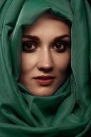 woman with headscarf
