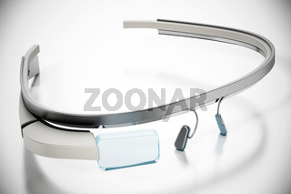 Generic wearable augmented reality smart glasses isolated on white background. 3D illustration