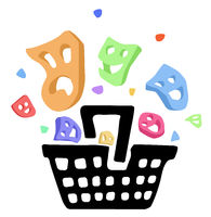 Shopping Basket Masks Cartoon