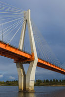 Cable-stayed bridge in the city of Murom - Russia