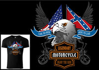 T-shirt Design for Motorcyclists with Eagle Head