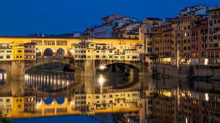 Florence in Italy at dusk