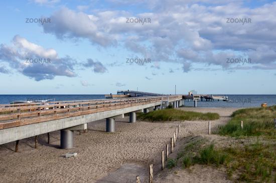 Pier in Heiligenhafen, Baltic Sea, Germany