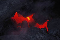 Hot lava under the surface