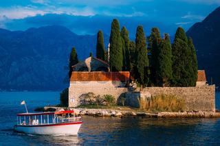 The island of Gospa od Skrpela in the Boko-Kotorsky Gulf