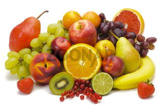 group of fresh mixed fruits