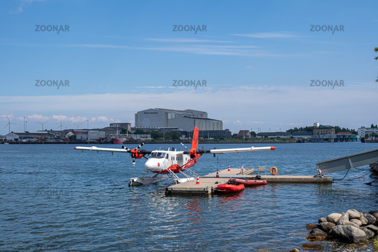 Sea Plane in Copenhagen Harbor