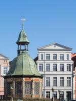 Wismar - Wasserkunst auf dem Marktplatz, Deutschland