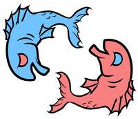 Happy Sad Fish Cartoon