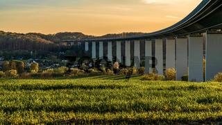 View across the Ruhrtal in Muelheim an der Ruhr, Germany