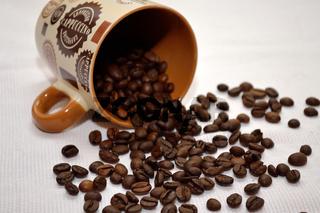 Kaffeebohnen und -Haeferl