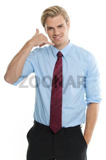 geschäftsmann mit zeichen