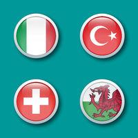 bouton drapeau groupe A euro 2021