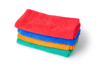 Stack of cleaning rags or towels