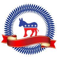 Demokrats Logo with Ribbon